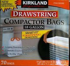 Kirkland Compactor Bags 18 Gallon Smart Fit Gripping Drawstring 70 ct