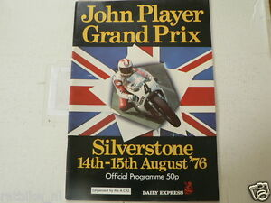 1976 BRITISH MOTORCYCLE GRAND PRIX SILVERSTONE PROGRAMME 14/15 TH AUGUST SHEENE