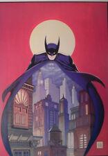 BATMAN NIGHT VIGIL OVER GOTHAM BOB KANE SIGNED COA + DC VINTAGE WARNER STORES