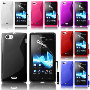 Protective Cover For Sony Xperia J St26i TPU Silicone Flip Case Cover