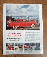 1949 Studebaker Commander Starlight Coupe Ad  at the Ocean shore
