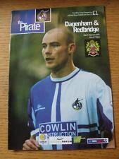 05/12/2001 Bristol Rovers v Dagenham And Redbridge [LDV Vans Trophy] (Slight Fol