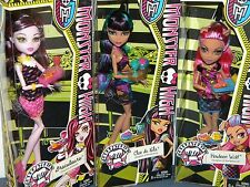Set of 3 Monster High New 2014 Creepateria Dolls Cleo de Nile Howleen DracuLaura