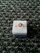 Lady Wedding Party Jewelry 925 Silver Rose Gold Claw Inlay Zircon Circular Ring