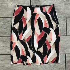 WHBM White House Black Market Women's Sz. 00 Pink Floral Pencil Skirt Fitted