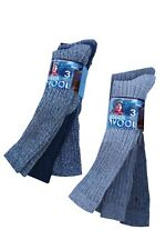3 Pairs LADIES LONG WOOL RIBBED BOOT SOCKS Size 4-7