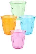 Plástico Fiesta Picnic vasos, de color Camping Bebidas tazas, 250ml, Conjunto 12