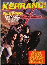 Death Angel on Kerrang No: 192 Cover 1988   Ace Frehley