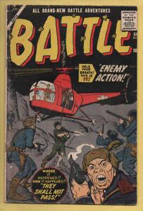 Battle #66 Jack Davis, Sinnott, Fidel Castro Story Oct 1959, Atlas Marvel VG