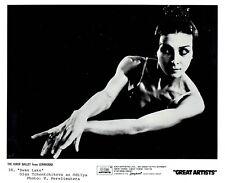 """1986 Vintage Photo Kirov Ballet dancer Olga Chenchikova posing in """"Swan Lake"""""""