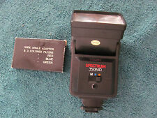 Spectrum 350MD Flash Unit & Wide Angle Adaptor w 3 Colored Fliters