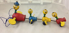 Vintage Fisher Price #777 GABBY GOOFY Duck Family Pull Toy