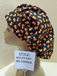 NC Candy Corn Dots #2 Halloween Women's Bouffant Surgical Scrub Hat/Cap Handmade