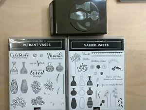 Stampin' Up! Retired Stamp Sets Varied Vases, Vibrant Vases, and Vase Punch
