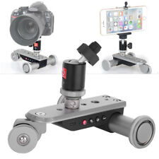 Rechargeable Motorized Electric Track Slider Dolly Car Pulley Rolling Camera DY
