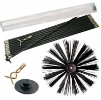 Chimney Sweep Sweeping Brush Soot Cleaner Can also Clean Drains Clear Blockages