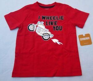 ❤ GYMBOREE boys I WHEELIE LIKE YOU shirt 18-24m New motorcycle red NWT FREESHIP