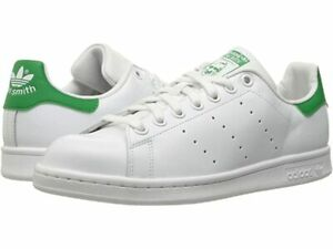 ADIDAS Men's 'STAN SMITH M20324' White/Green ORIGINALS LACE-UP SHOES - 8 / 7.5