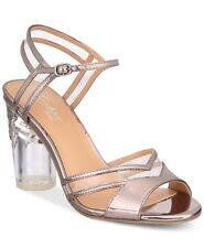 3c89cd5c6c77 Thalia Sodi Women s Carsyn Block-Heel Dress Sandals Size 10 Pewter