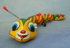 """Vintage TPS Tin Wind Up Caterpillar with Jiggly Antennas Made in Japan 12 1/2"""""""