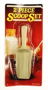 Set of 2 Plastic Multipurpose Ice Sweet Candy Food Kitchen Scoop Shovel