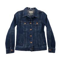 Madewell Women's Classic Denim Jean Fitted Jacket 2XS Dark Wash Full Button NWT