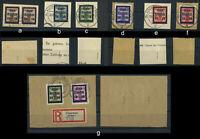 Glauchau ex 20 - 29 gest., Briefstuecke alle BPP - geprueft; auswaehlen! #e048