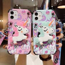 Cartoon Unicorn Stand Phone Case Cover For iPhone 11 Pro Max 7 8 Plus Xs XR