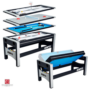 4-in-1 Swivel Combo Game Table Hockey Billiards Table Tennis Basketball 72 New
