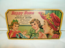 Vintage Advertising---HAPPY HOME Needle Book-- Incomplete--1940-50's