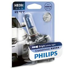 Philips Crystal Vision 4300K HB3 Car Headlight Bulb (Single Pack)