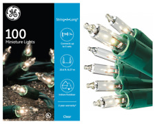 GE 100-CT CLEAR INCANDESCENT STRING LIGHTS WITH GREEN WIRE >HOLIDAYS & WEDDINGS