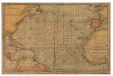 MC752  Atlantic Maritime Map 1786 -    SPECIAL PRICING    -  Authentic Models