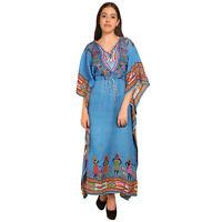 African Bohemian Long Women's Kaftan Night wear Maxi Dresses Dress