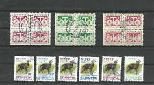 ETHIOPIA POSTAGE DUE AND BUSHBUCK STAMPS  USED