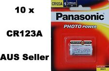 2 Genuine Panasonic Cr123a Lithium 3v Battery for Photo Camera Cr-123aw/1be