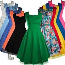 WHOLESALE BULK LOT 10 MIXED COLOUR SIZE 50'S Vintage Retro Swing Dress dr185