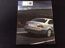 2004 BMW 3 Series Coupe 325Ci 330Ci Original 100 Page Car Brochure