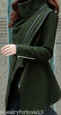 Winter Damen Duffle Coat Trench Blazer Warm Mantel Jacke Lange Parka Winterjacke