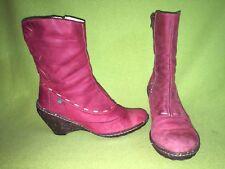 Red Nubuck El Naturalista Wedge Heel Ankle Boots 6.5 37