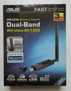 ASUS USB-AC56 Wireless Adapter - Dual-Band Wireless AC1300 - WiFi Dongle