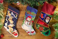 VTG Christmas Stocking Frosty the Snowman 3D Puffalump Style Parachute Nylon Red White \u2022\u00a01994