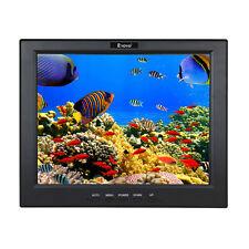 "12"" inch LCD TFT Screen Display HD Monitor VGA HDMI BNC AV USB Fit Security CCTV"