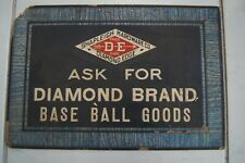 SHAPLEIGH HARDWARE BASEBALL ADVERTISING SIGN VINTAGE 1930s 1940s DIAMOND EDGE