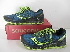 Saucony Nomad TR S20287-1 Trail Running Shoes Blue Black Neon Men's Size 10