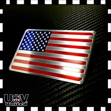 Usa America United States Flag Aluminium 3M Side Rear Badge Metal Emblem Sticker (Fits: 2005 3)