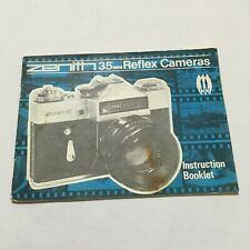 VINTAGE INSTRUCTIONS MANUAL FOR ZENIT 35mm REFLEX CAMERA-FREE SHIPPING