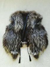 echte Waschbär Weste real racoon vest fur NEW