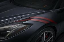 2020-2021 Chevrolet Corvette C8 Fender Hash Mark Decals 84290344 Edge Red OEM GM