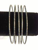 Antiqued Gold Colored Fashion Bangle Bracelet - A-B-15